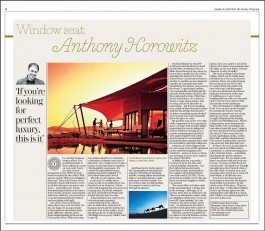 The Sunday Telegraph – Window Seat: Anthony Horowitz
