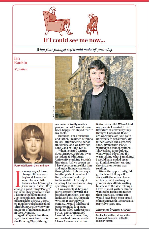 The Daily Telegraph 26.12.2015 Pg 3 - Ian Rankin