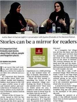 Gulf News – Stories can be a mirror for readers