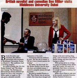 The Gulf Today – British novelist and comedian Ben Miller visits British Middlesex University Dubai