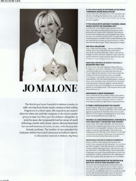 The National Luxury – Perfumer Jo Malone talks about ideal dinner party and more